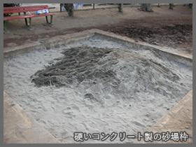 コンクリート製砂場枠